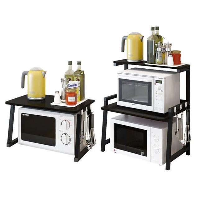 微波爐置物架-三層(廚房收納層架 調味罐架 層架 置物架 置物收納架)