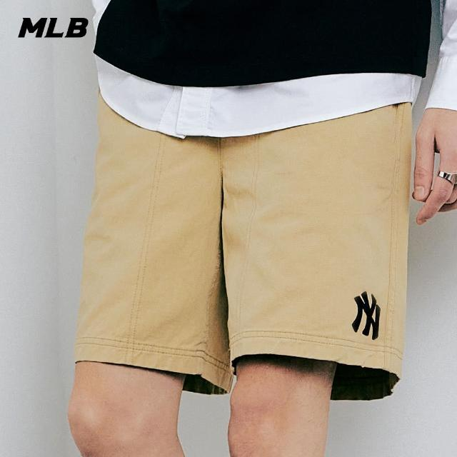 【MLB】休閒短褲 基本款 素色 紐約洋基隊(31SMU1131-50B)