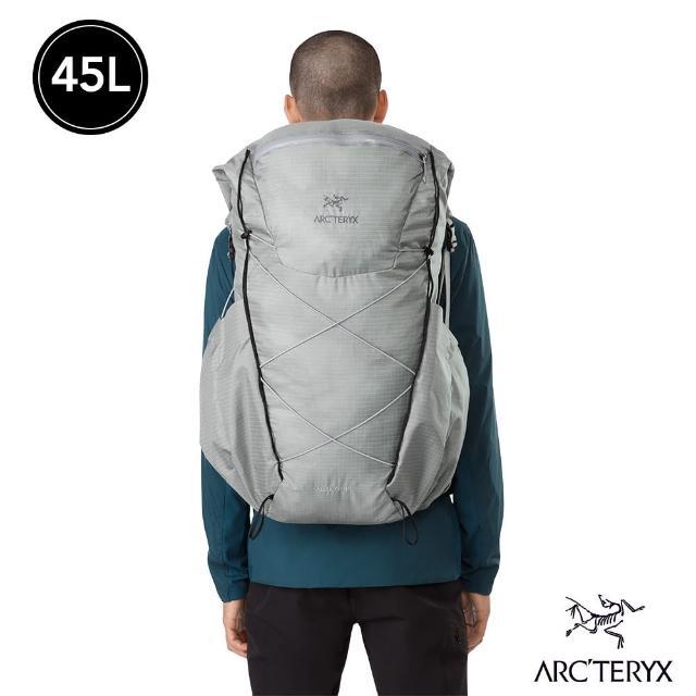 【Arcteryx 始祖鳥】男 Aerios 45L 輕量 登山 後背包(像素灰)