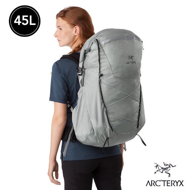 【Arcteryx 始祖鳥】女 Aerios 45L 輕量 登山 後背包(像素灰)