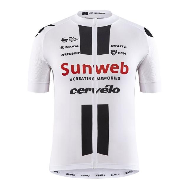 【CRAFT】Team Sunweb 車隊版短袖車衣 1908208 白/黑(男款 環法 車隊版 白色)