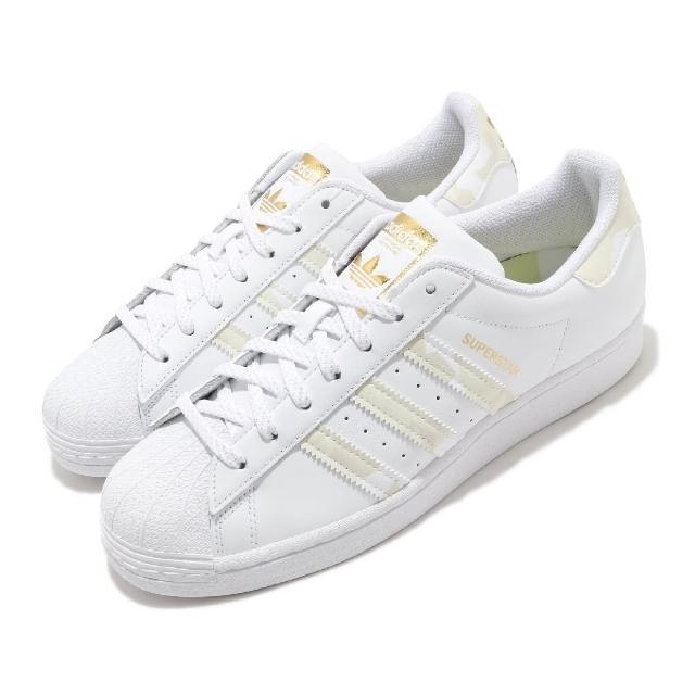 【adidas 愛迪達】休閒鞋 Superstar 運動 男鞋 愛迪達 舒適 避震 貝殼頭 球鞋 穿搭 白 黃(FX9088)