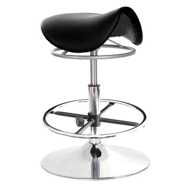 【GXG 吉加吉】馬鞍型 工作椅 金屬盤+踏圈 拉環升降款(TW-T04 K)