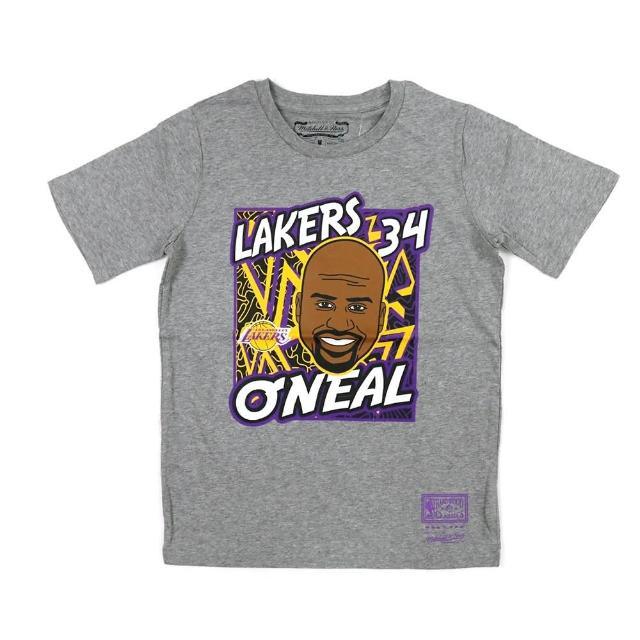 【NBA】M&N NBA 青少年 球員肖像 短袖上衣 湖人隊 #34 Shaquille ONeal(WN2B7BME8-LAKSO)