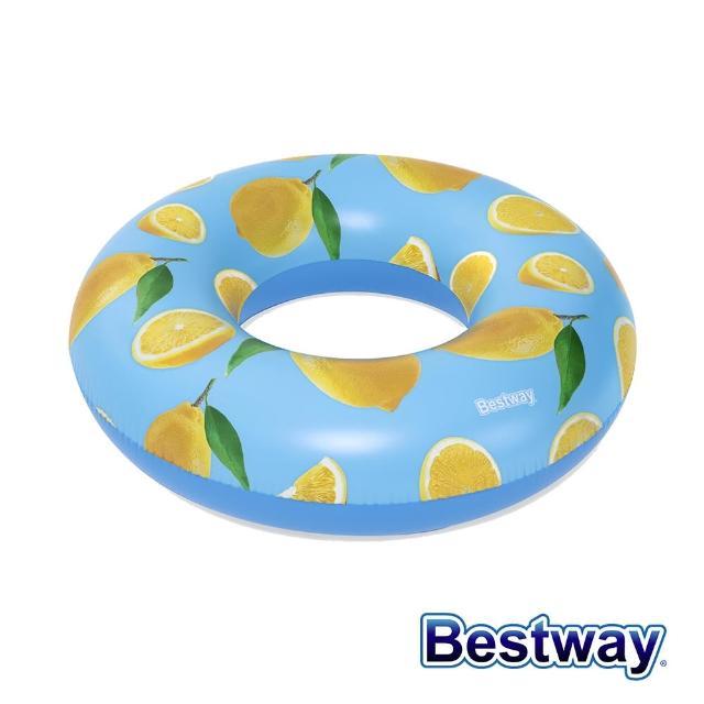 【BESTWAY】47吋檸檬香味大泳圈(泳具 泳圈)