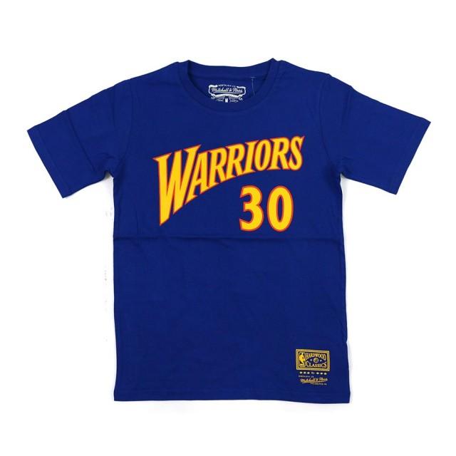 【NBA】M&N NBA 青少年 N&N 短袖上衣 勇士隊 #30 Stephen Curry(WN2B7BMR0-WARSC)