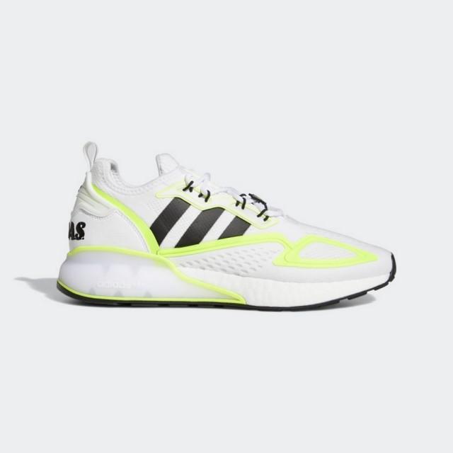 【adidas 愛迪達】ZX 2K BOOST 男女 休閒鞋 白黃(GY2630)