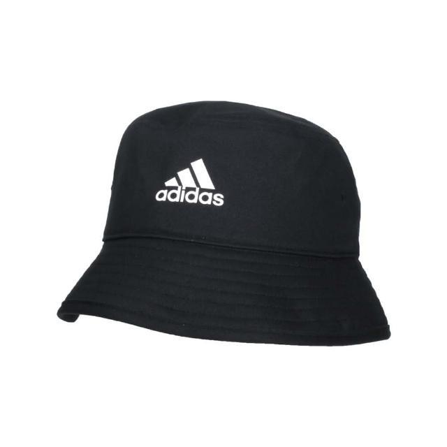 【adidas 愛迪達】漁夫帽-純棉 防曬 遮陽 運動 帽子 愛迪達 黑白(H36810)
