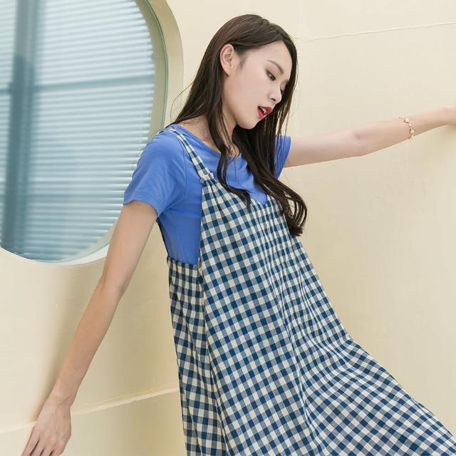 【KEZZA】二件式細格洋裝