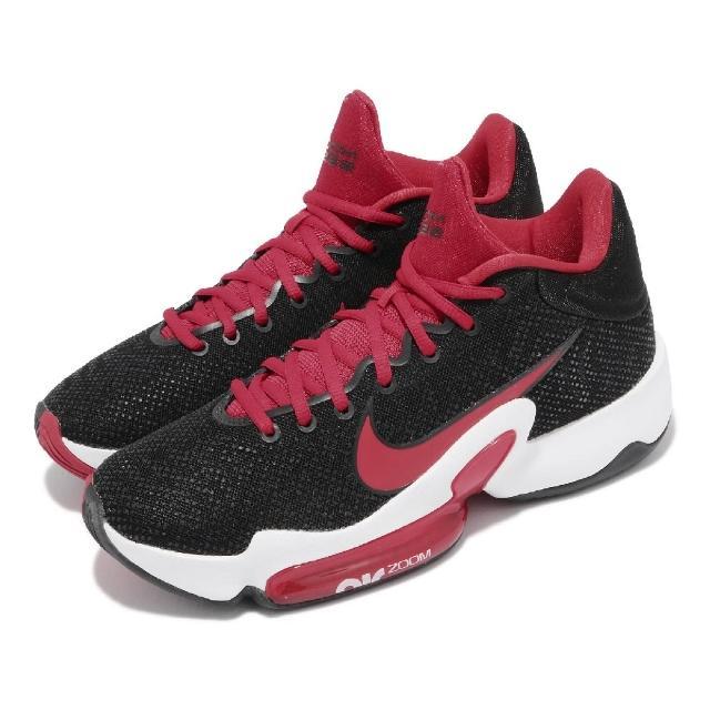 【NIKE 耐吉】籃球鞋 Zoom Rize 2 運動 男鞋 海外限定 氣墊 舒適 避震 包覆 支撐 黑 紅(CT1495-003)