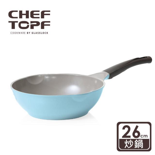【Chef Topf】La Rose薔薇玫瑰系列26公分不沾炒鍋
