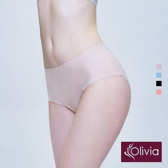 【Olivia 奧莉葳】舒冉系列-洋桔梗 冰絲無痕蠶絲托腹孕婦三角褲