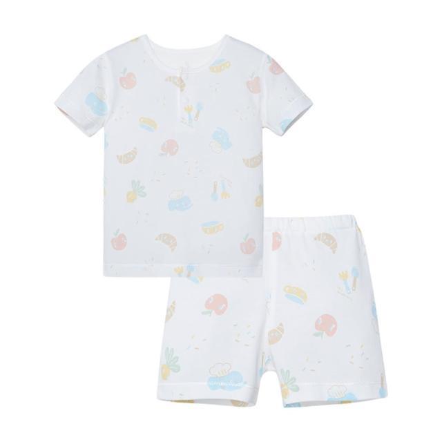 【麗嬰房】Cloudy雲柔系列 透氣小象升級版短袖套裝(76cm-130cm)