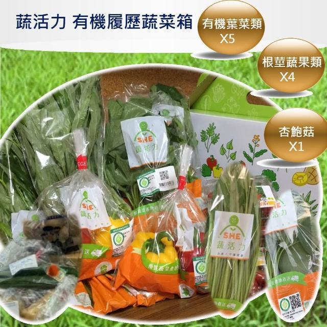 【蔬活力】有機防疫樂活蔬菜箱(10件組)