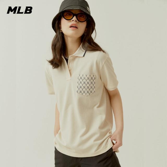 【MLB】Polo衫 短袖 老花口袋系列 Monogram 紐約洋基隊(31TSQN131-50I)
