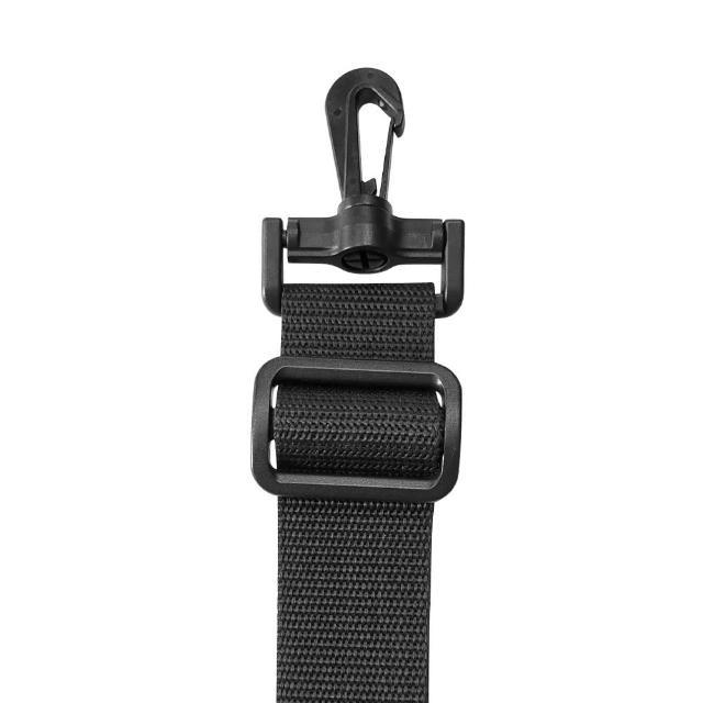 【AOU 微笑旅行】YKK扣具 輕量活動式強化耐重背帶 側背帶 公事包背帶 尼龍背帶 黑色 03-007D11