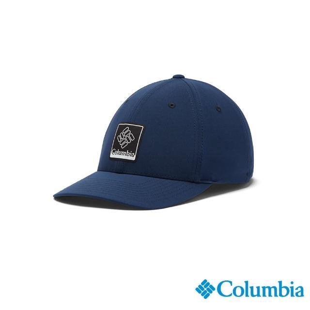 【Columbia 哥倫比亞】男女款-LOGO棒球帽-深藍(UCU01590NY / 抗UV.快排.涼感)