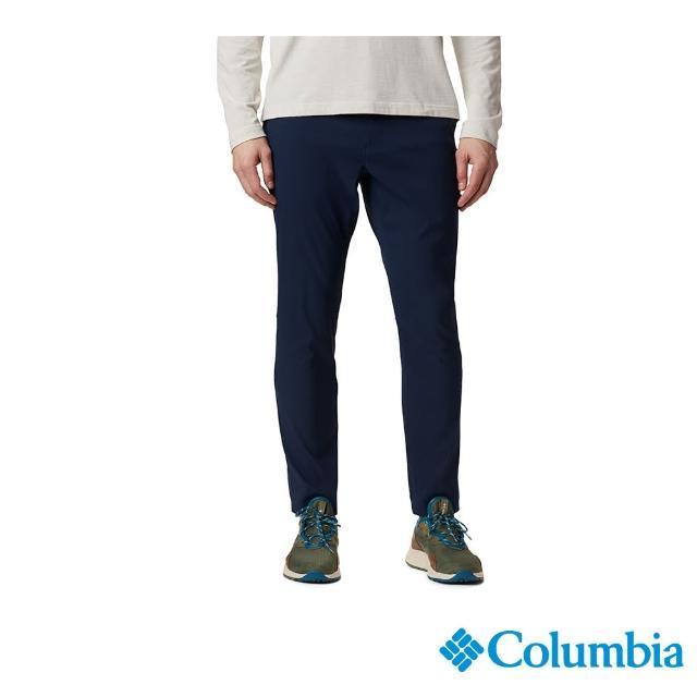 【Columbia 哥倫比亞】男款-防曬50長褲-深藍(UAE07800NY / 彈性.防曬.休閒)
