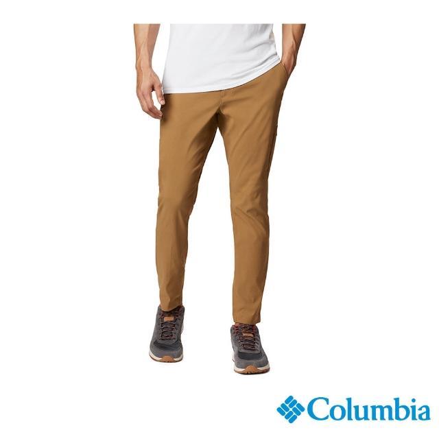 【Columbia 哥倫比亞】男款-防曬50長褲-棕色(UAE07800BN / 彈性.防曬.休閒)