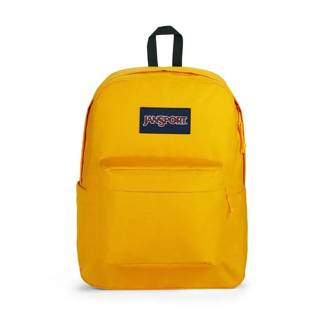【JANSPORT】SUPERBREAK PLUS(玉米黃 水壺側袋 JS-43511J7G4)