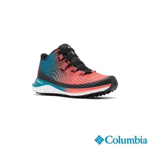 【Columbia 哥倫比亞】女款- Outdry防水機能健走鞋-橘紅(UBL01610AH / 越野.健走.防水)