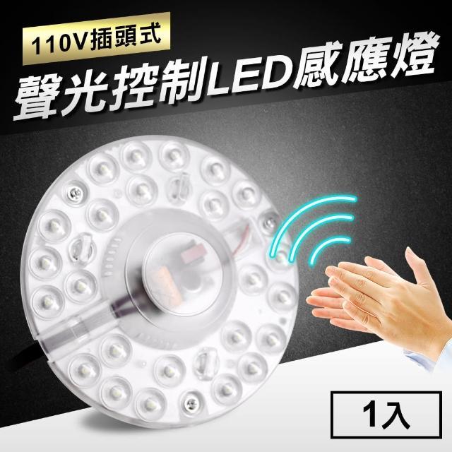 【TheLife嚴選】12W 1000流明聲光控制LED感應燈-110V插頭式