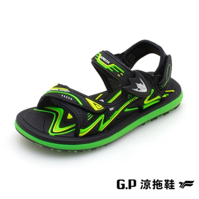 【G.P】童 兒童簡約休閒兩用涼鞋(綠)