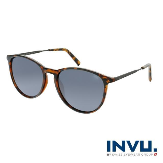 【INVU】瑞士都會流行偏光太陽眼鏡(琥珀 B2102B)