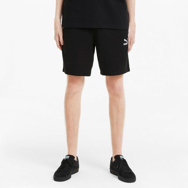 【PUMA】短褲 男款 運動短褲 慢跑 8吋 Classics 黑 59981001