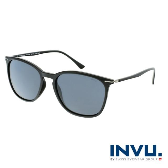 【INVU】瑞士簡約絞鏈設計偏光太陽眼鏡(黑 B2110A)
