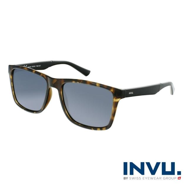 【INVU】來自瑞士品牌經典偏光太陽眼鏡(黃琥珀 B2106C)