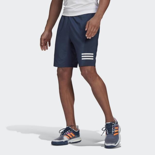 【adidas 愛迪達】3-STRIPES 男 運動短褲 深藍(GH7225)