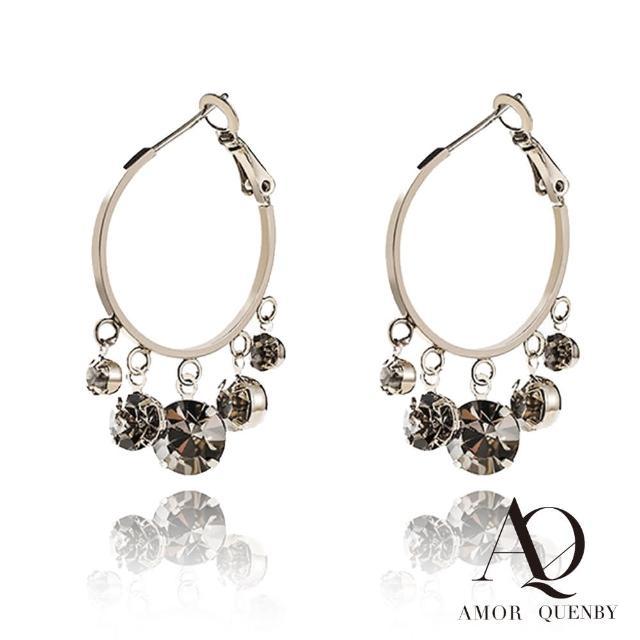【AQ】925純銀 簡約大方復古色系耳環/耳針(AMOR Quenby/飾品/復古/簡約)