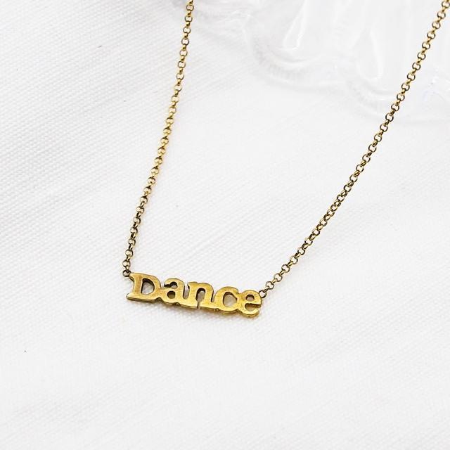 【Dogeared】Dance字母金色項鍊