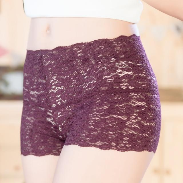 【Duolian 多莉安】MIT馬卡龍平口蕾絲褲6件組(081999)