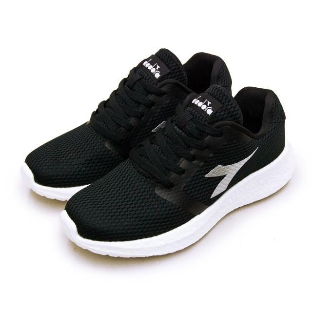 【DIADORA】男 迪亞多那 專業無縫TPU避震慢跑鞋 ETPU彈力球系列(黑銀 73132)