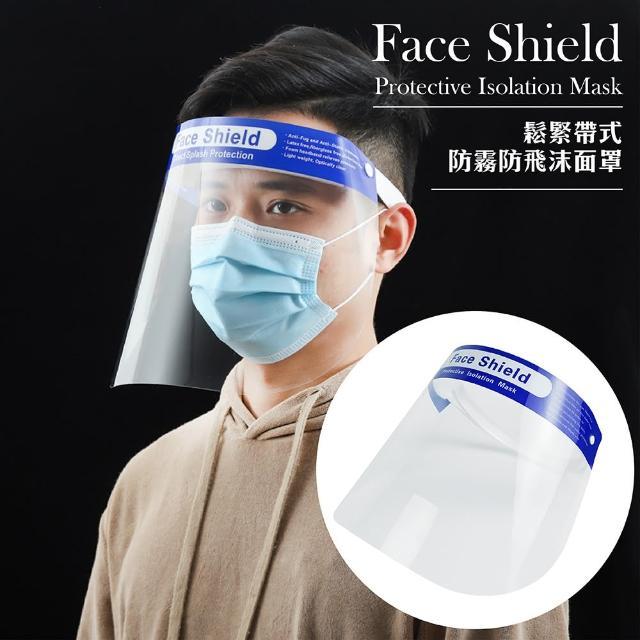 【藍頂帶】防飛沫面罩-6入(七折現貨 現貨不必等 防塵 防飛沫 防水 防霧 保護更上層樓)