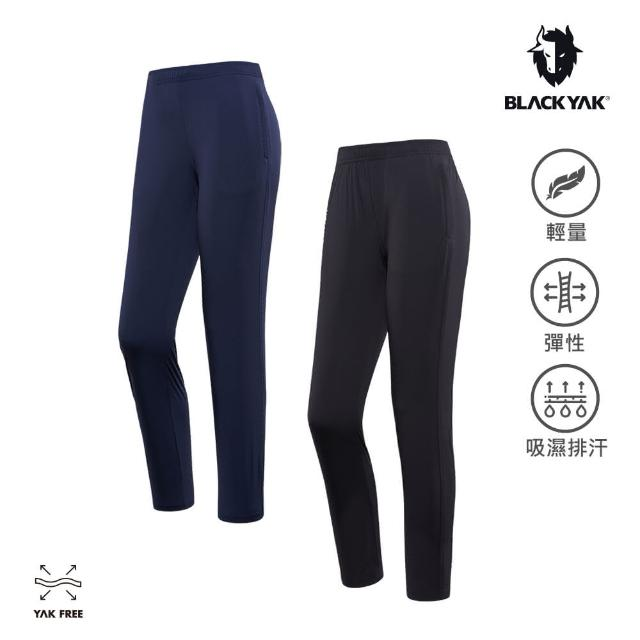 【BLACK YAK】女 LESS 輕量彈性長褲[海軍藍/黑色]BYAB1WP209(韓國春夏 長褲 女長褲)