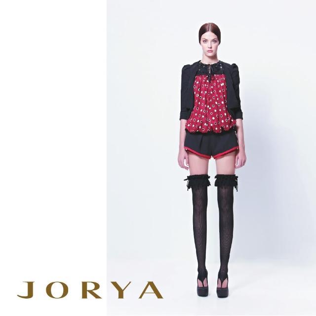【JORYA】13TJ005質感打褶線條邊桑蠶絲短褲