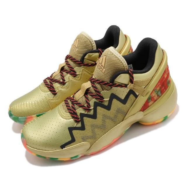 【adidas 愛迪達】籃球鞋 D.O.N. Issue 2 GCA 男鞋 愛迪達 中筒 米契爾 Bounce中底 金 彩(FW9050)