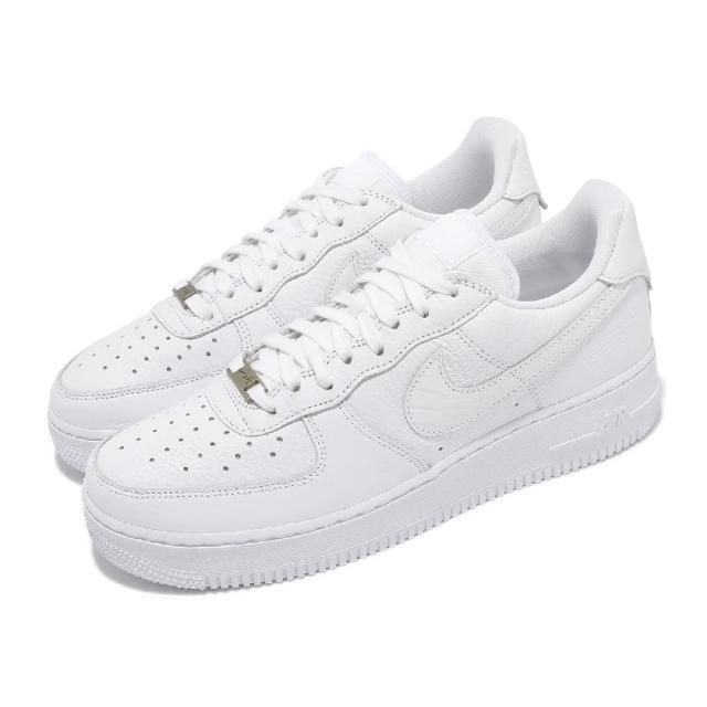 【NIKE 耐吉】休閒鞋 Air Force 1 Craft 男鞋 經典款 皮革 質感 簡約 球鞋 穿搭 全白(CU4865-100)