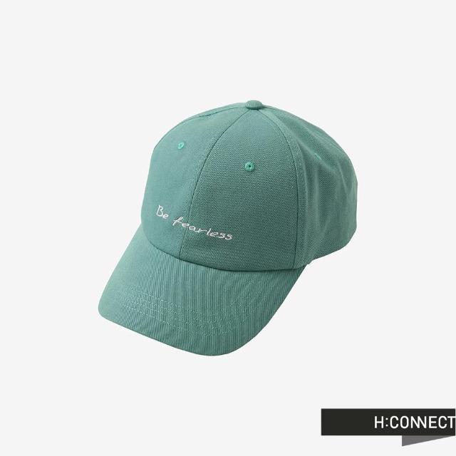 【H:CONNECT】韓國品牌 配飾-英文個性標語刺繡棒球帽(綠色)