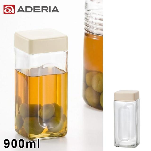 【ADERIA】日本進口玻璃醃漬瓶900ml(白)