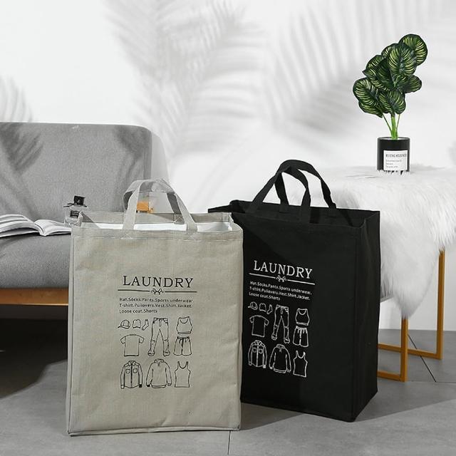 【E.City】北歐風質感手提棉被衣物束口收納袋