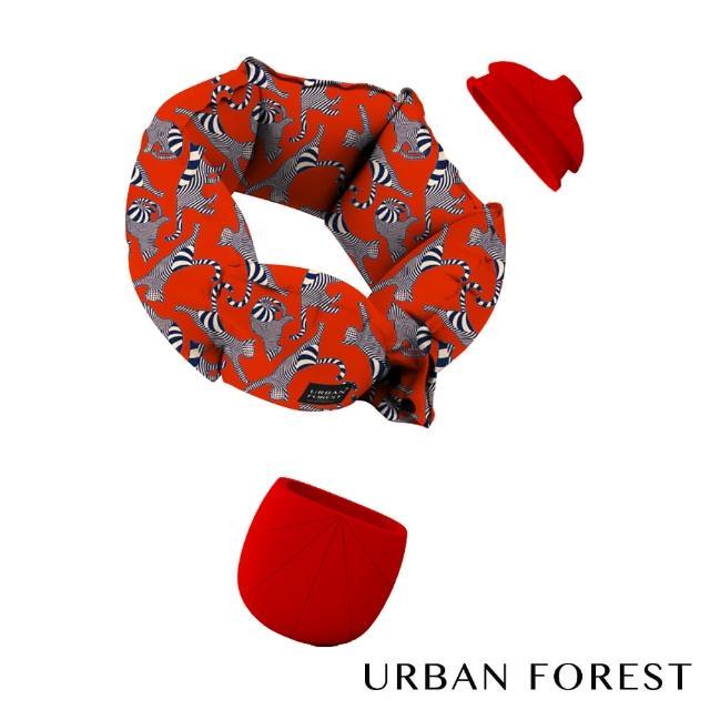 【URBAN FOREST 都市之森】樹-口袋充氣頸枕 福貓限量禮盒