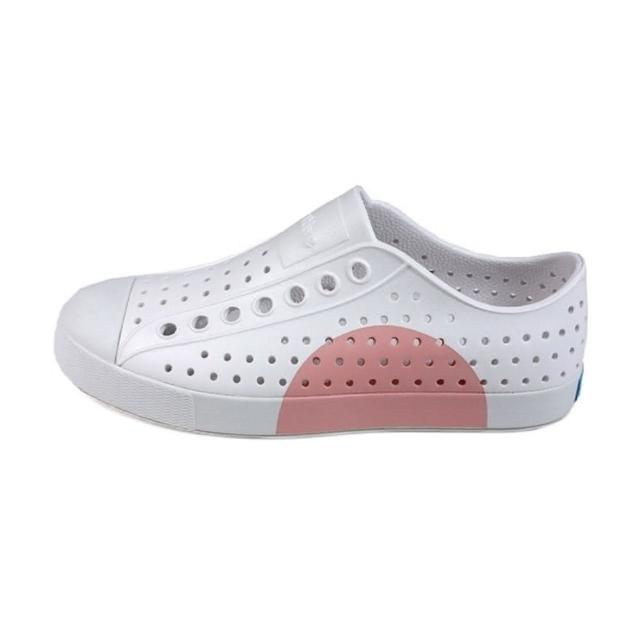 【native】JEFFERSON BLOCK 白粉休閒洞洞鞋-NO. 11100102-8898