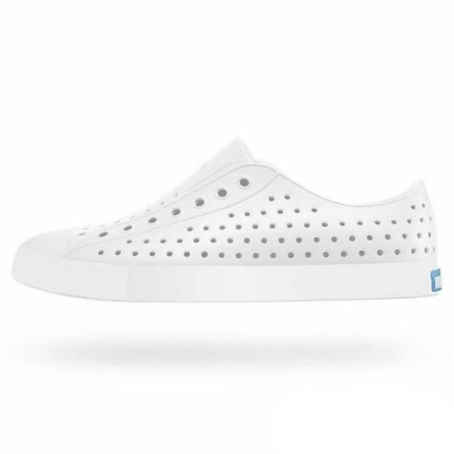 【native】JEFFERSON男女款白色情侶休閒鞋NO.11100100-1999