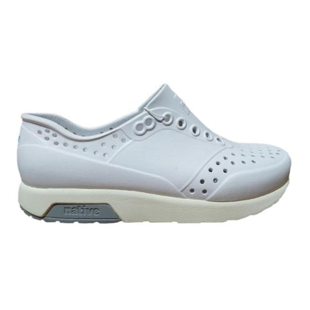 【native】LENNOX 男女款白色懶人洞洞鞋-NO.11105000-1951