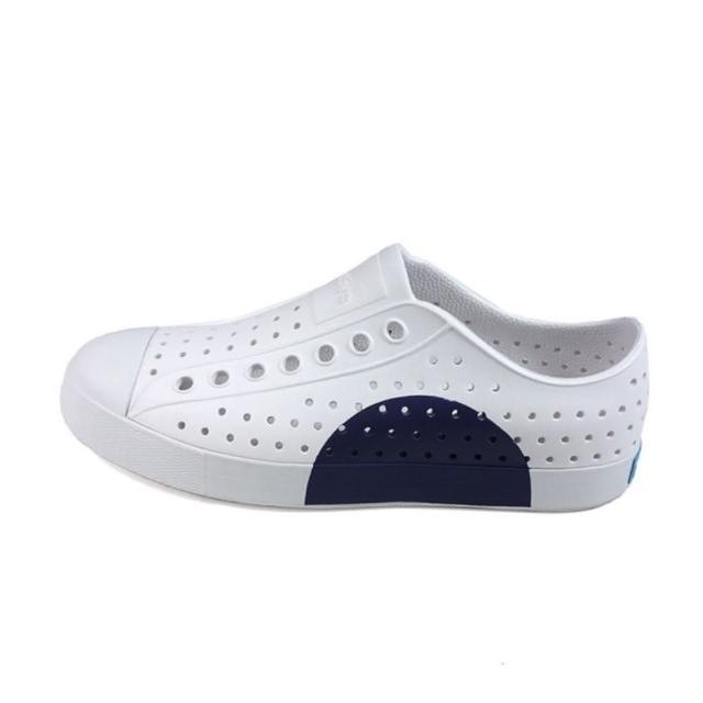 【native】JEFFERSON BLOCK 白藍休閒洞洞鞋-NO.11100102-8920