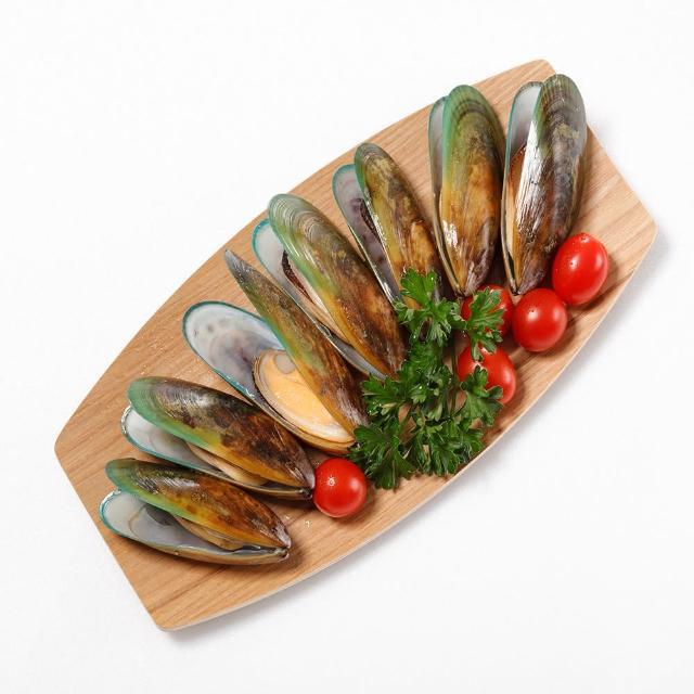 【華得水產】紐西蘭特級半殼淡菜8包(800g/包)